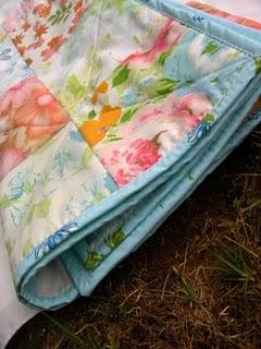 vintage linen quilt
